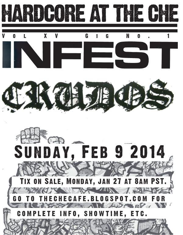 Infest-Los Crudos @ San Diego CA 2-9-14