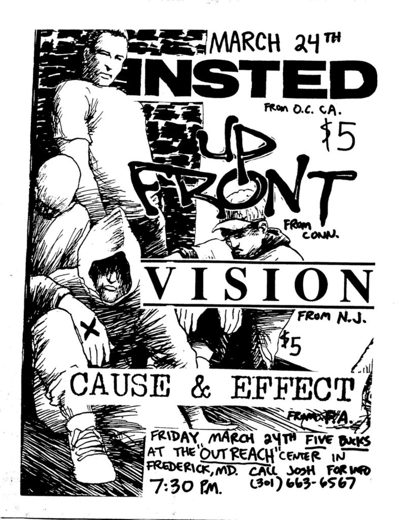 Insted-Up Front-Vision-Cause & Effect @ Frederick MD 3-24-89