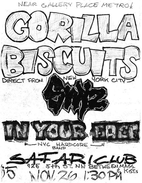 Gorilla Biscuits-Swiz-In Your Face @ Washington DC 11-26-89