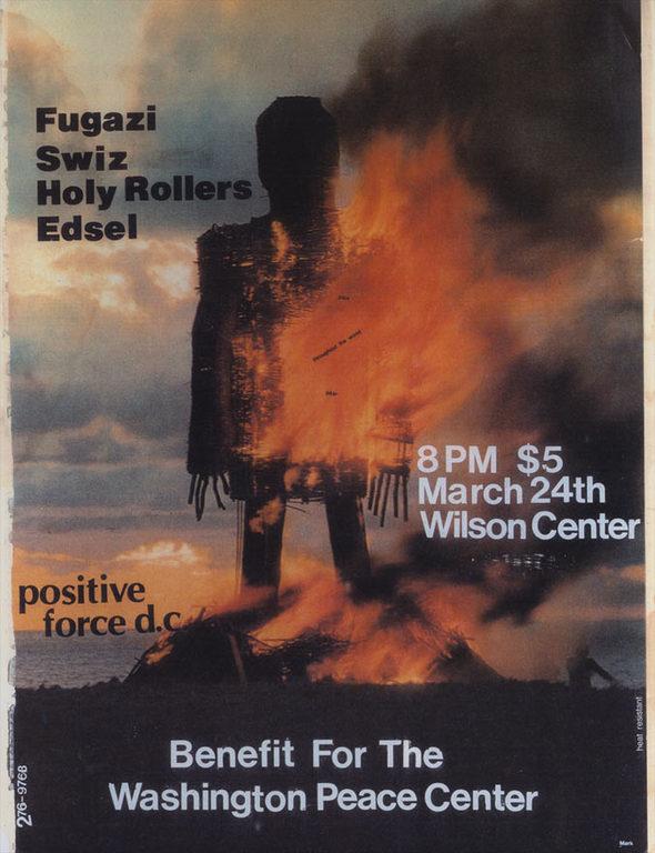 Fugazi-Swiz-Holy Rollers-Edsel @ Washington DC 3-24-89
