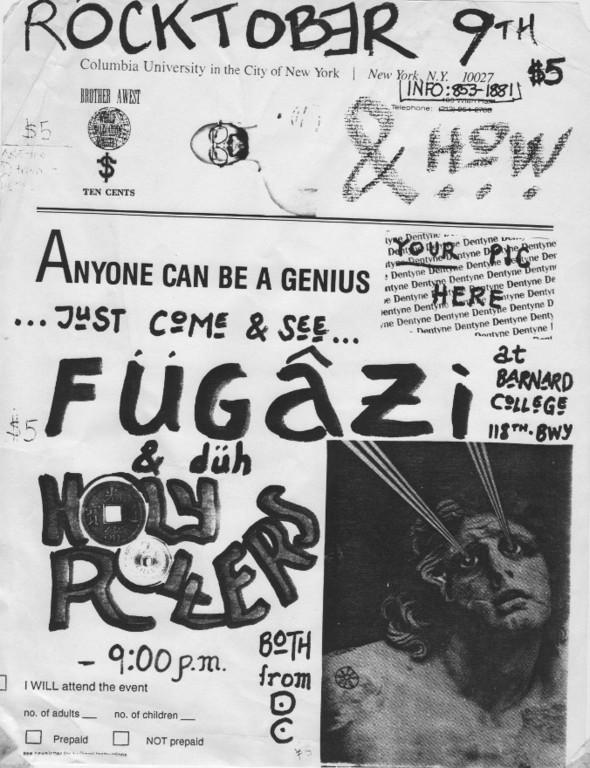 Fugazi-Holy Roller @ New York City NY 10-9-89