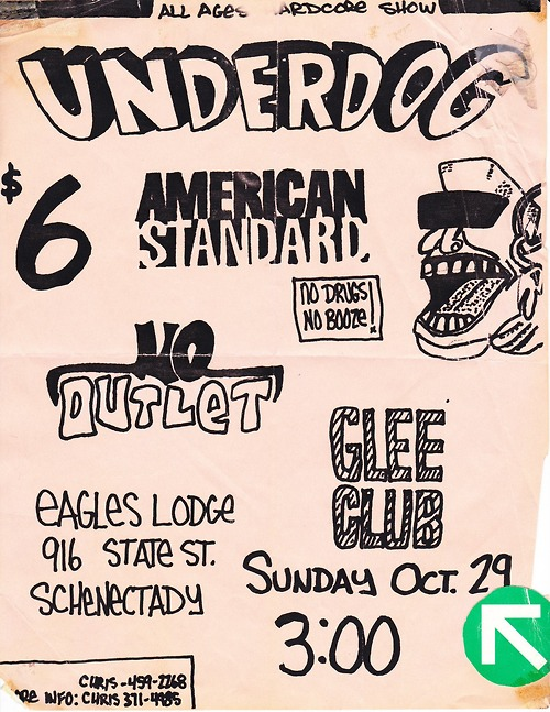Underdog-American Standard-Glee Club-No Outlet @ Schenectady NY 10-29-89