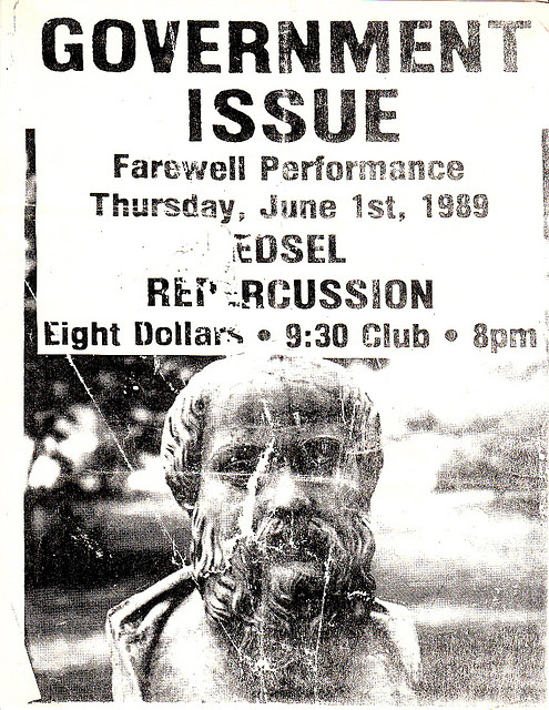 Government Issue-Edsel-Repercussion @ Washington DC 6-1-89