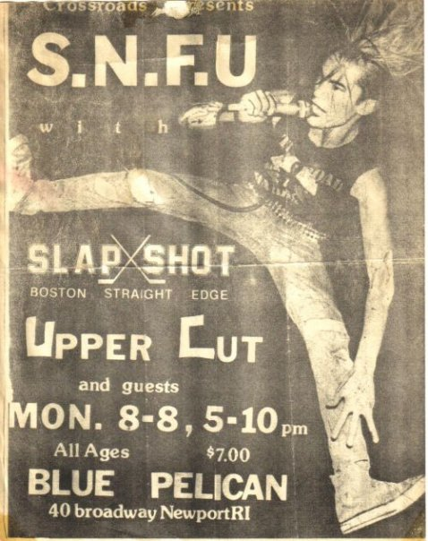 SNFU-Slapshot-Uppercut @ Newport RI 8-8-89