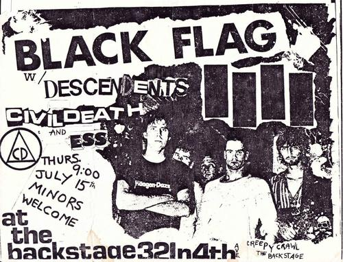 Black Flag-Descendents-Civil Death-ESS @ Tucson AZ 7-15-82