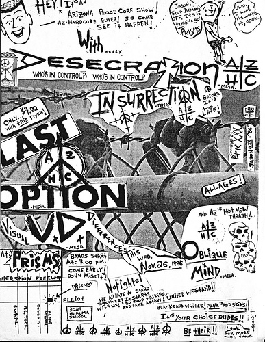 Desecration-Insurrection-Last Option-Visual Differences @ Mesa AZ 11-26-86