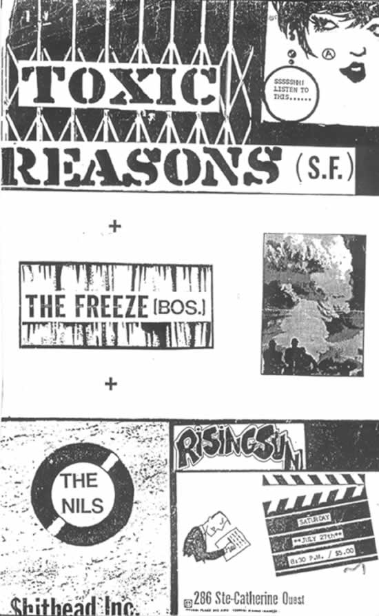 Toxic Reasons-The Freeze-The Nils @ Montreal Canada 7-27-85