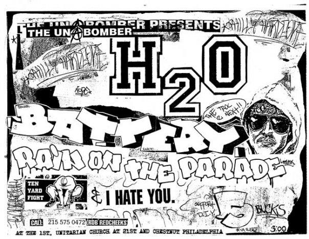 h2o-Battery-Rain On The Parade-Ten Yard Fight-I Hate You @ Philadelphia PA 6-30-96