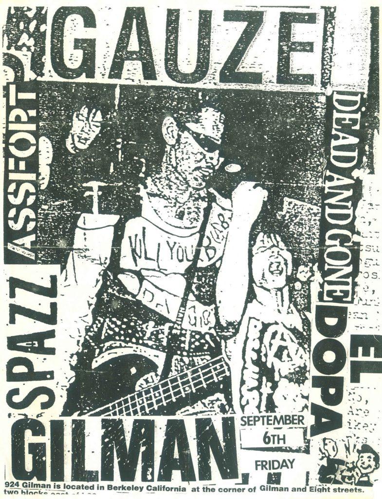 Gauze-Assfort-Dead & Gone-Spazz-El Dopa @ Berkeley CA 9-6-96