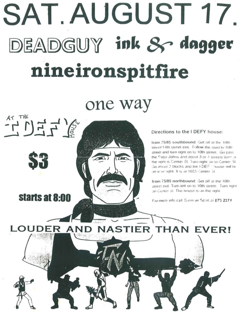 Deadguy-Ink & Dagger-Nineironspitfire-One Way @ Atlanta GA 8-17-96
