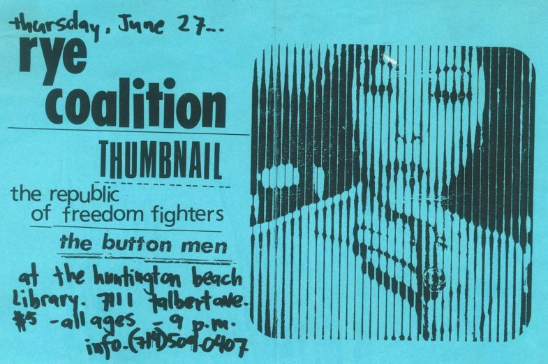 Rye Coalition-Thumbnail @ Huntington Beach CA 6-27-96
