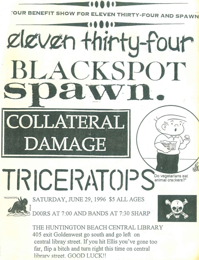 1134-Blackspot-Spawn-Collateral Damage-Triceratops @ Huntington Beach CA 6-29-96