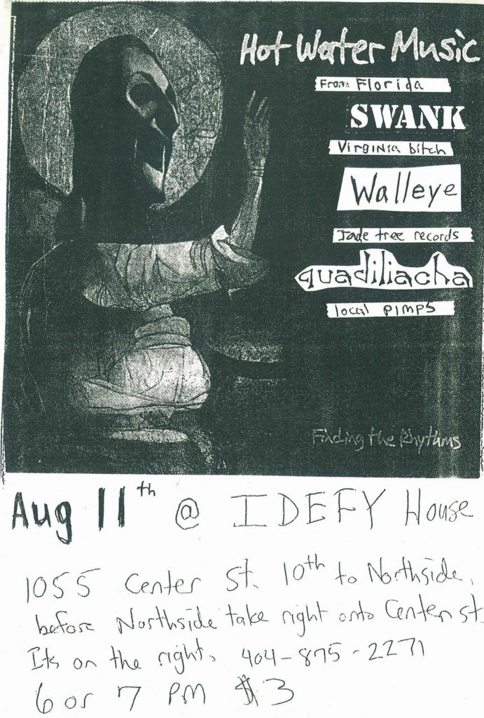 Hot Water Music-Swank-Walleye-Quadiliacha @ Atlanta GA 8-11-96