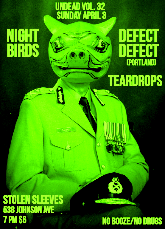 Night Birds-Defect Defect-Tear Drops @ Brooklyn NY 4-3-11