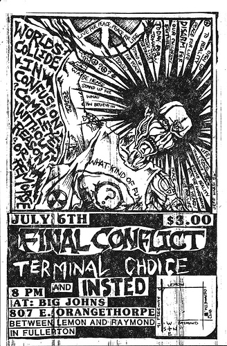 Final Conflict-Terminal Choice-Insted @ Fullerton CA 7-6-UNKNOWN YEAR
