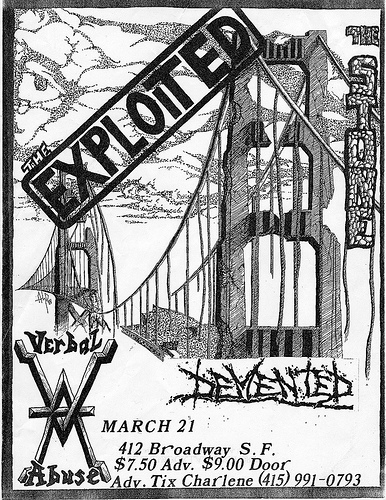 The Exploited-Verbal Abuse-Demented @ San Francisco CA 3-21-UNKNOWN YEAR