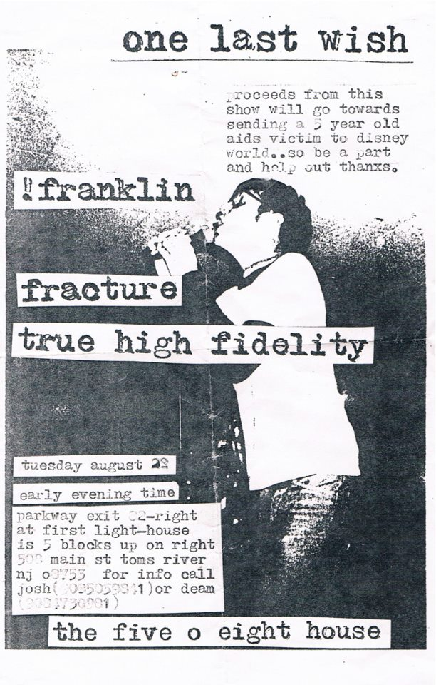 Franklin-Fracture-True High Fidelity @ Toms River NJ 8-22-95