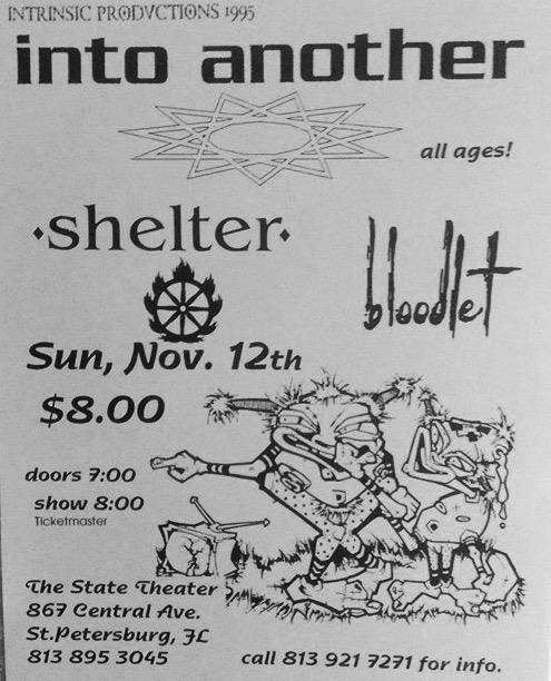 Into Another-Shelter-Bloodlet @ St Petersburg FL 11-12-95