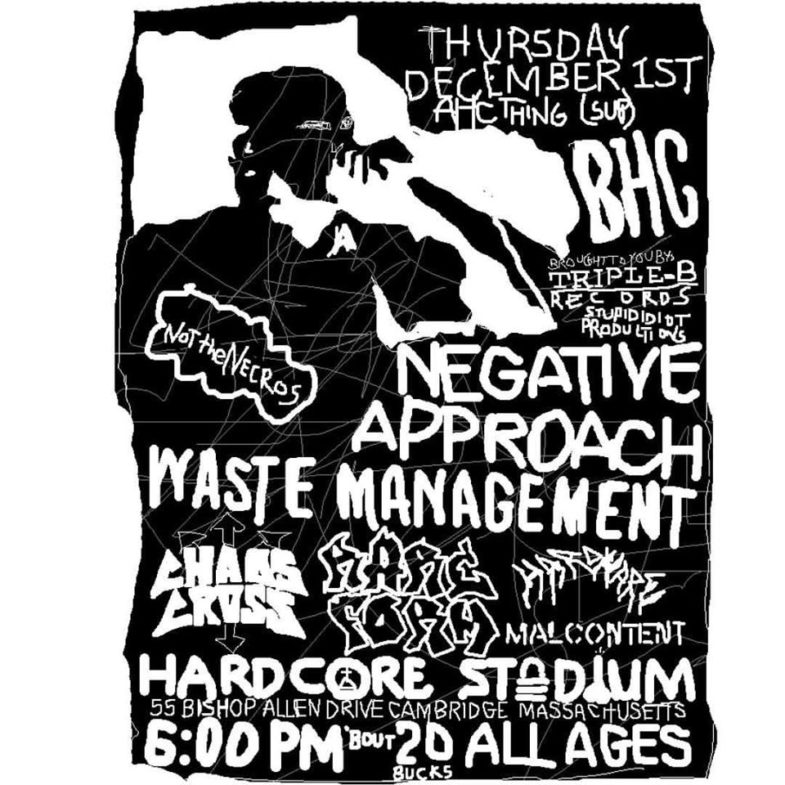 Negative Approach-Waste Management-Rare Form-Hardware-Malcontent @ Cambridge MA 12-1-16
