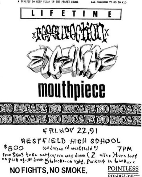 Lifetime-Ressurection-Edgewise-Mouthpiece-No Escape @ Westfield NJ 11-22-91
