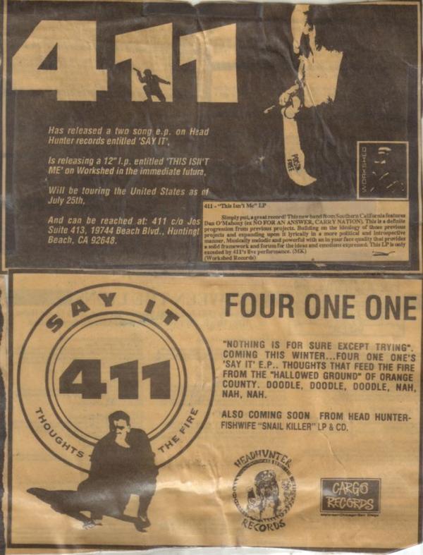 4 1 1 (Cargo Records)