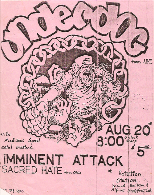 Hardcore Show Flyers – Underdog-Imminent Attack-Sacred Hate