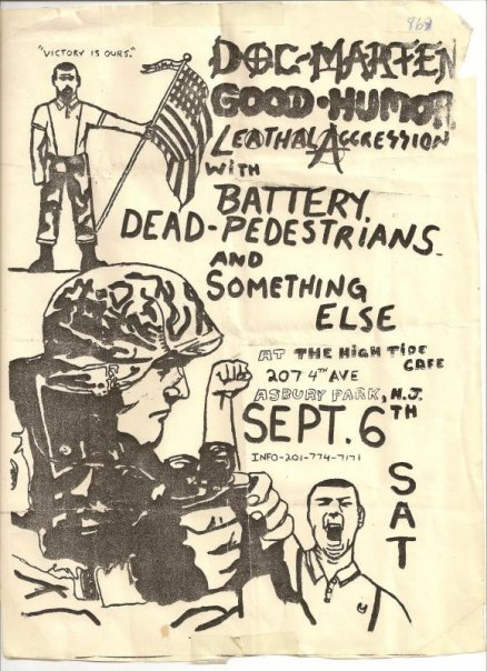 Doc Marten-Good Humor Stout-Lethal Aggression-Battery-Dead Pedestrians-Something Else @ Asbury Park NJ 9-6-UNKNOWN YEAR