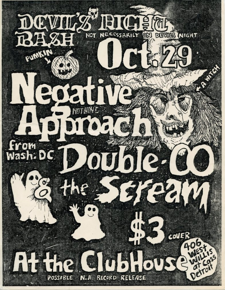 Negative Approach-Double O-Scream @ Detroit MI 10-29-83
