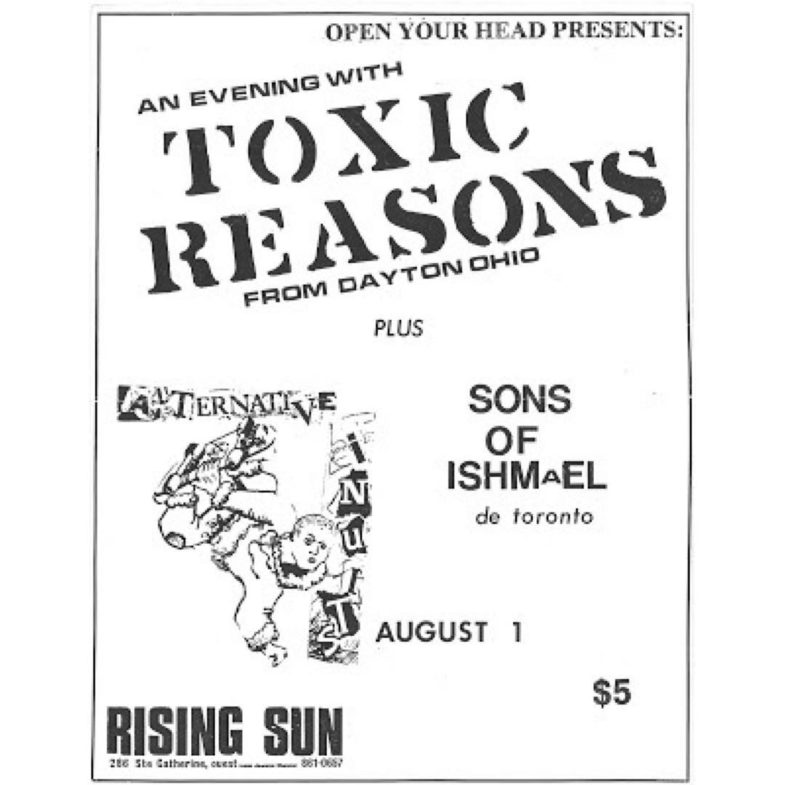 Toxic Reasons-Alternative Insults-Sons Of Ishmael @ Montreal Canada 8-1-86