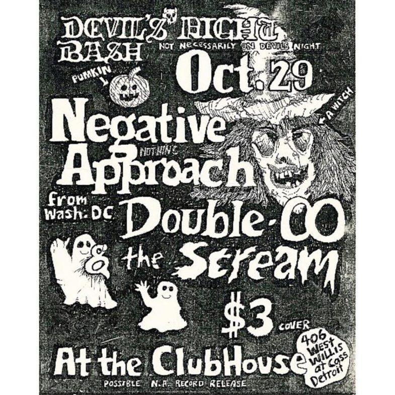 Negative Approach-Double O-Scream @ Detroit MI 10-29-UNKNOWN YEAR