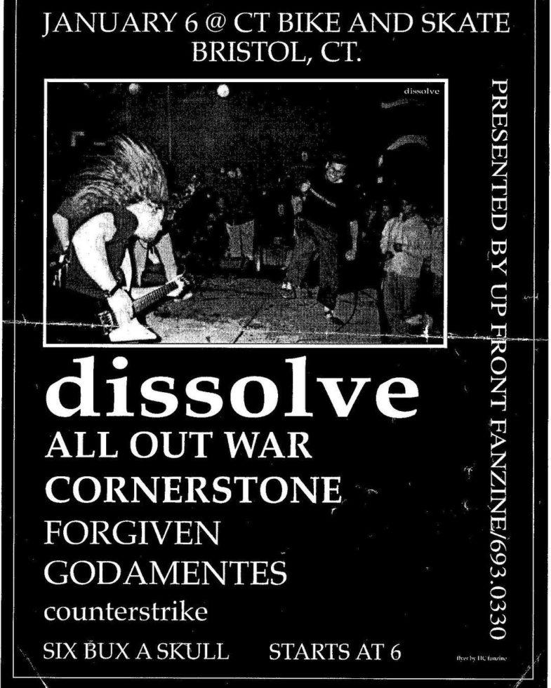 Dissolve-All Out War-Cornerstone-Forgiven-Godamentes-Counterstrike @ Bristol CT 1-6-UNKNOWN YEAR