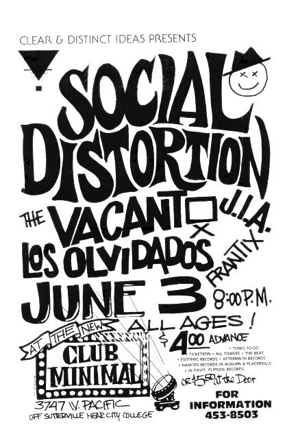 Social Distortion-The Vacant-Los Olvidados-JIA-Frantxi @ Sacramento CA 6-3-UNKNOWN YEAR