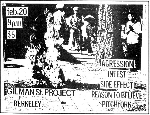 Aggression-Infest-Side Effect-Reason To Believe-Pitchfork @ Berkeley CA 2-20-UNKNOWN YEAR