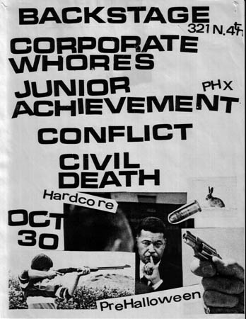 Corporate Whores-Junior Achievement-Conflict-Civil Death @ Tucson AZ 10-30-UNKNOWN YEAR