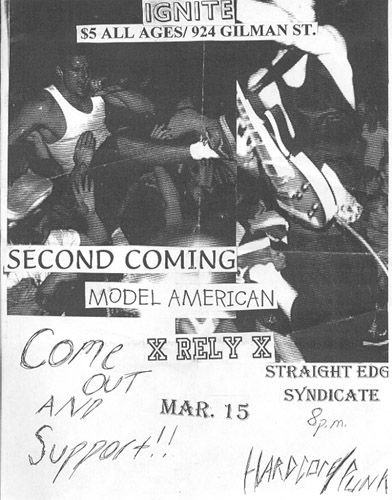 Ignite-Second Coming-Model American-Rely @ Berkeley CA 3-15-UNKNOWN YEAR