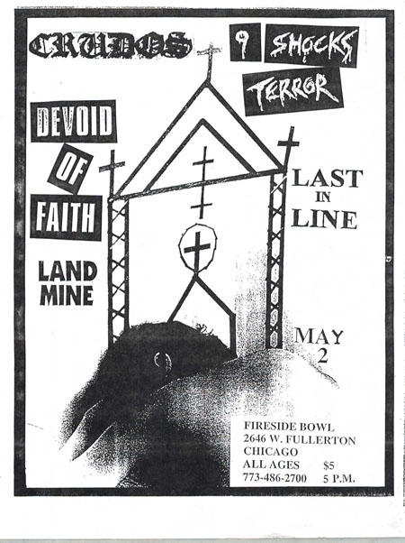 Los Crudos-9 Shocks Terror-Devoid Of Faith-Land Mine-Last In Line @ Chicago IL 5-2-UNKNOWN YEAR