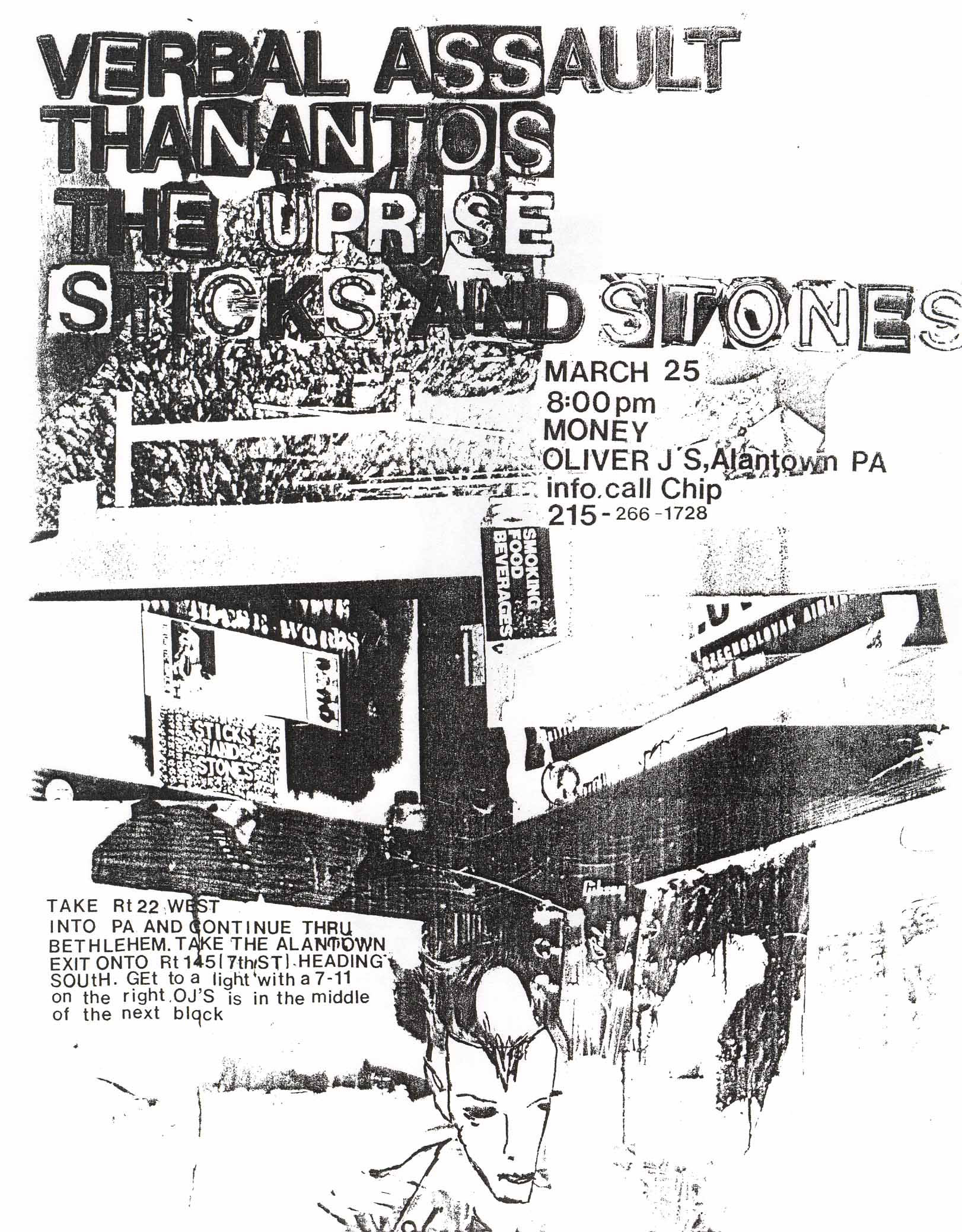 Verbal Assault-Thanatos-The Uprise-Sticks & Stones @ Allentown PA 3-25-UNKNOWN YEAR