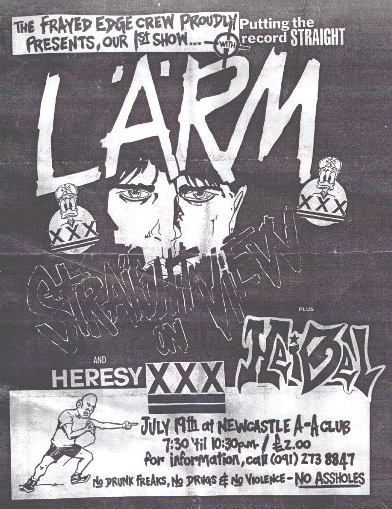 Larm-Heresy-Heibel @ Newcastle England 7-19-87