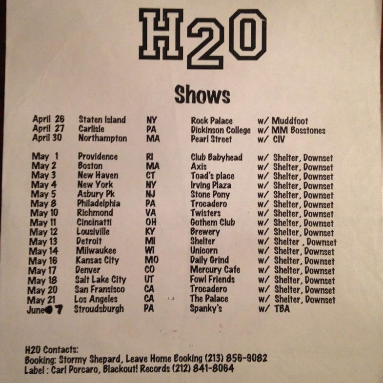 Shelter-Downset-h2o Tour 1996