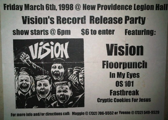 Vision-Floorpunch-In My Eyes-OS101-Fastbreak-Cryptic Cookies For Jesus @ New Providence NJ 3-6-98