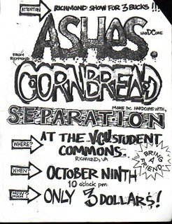 Ashes-Cornbread-Separation @ Richmond VA 10-9-UNKNOWN YEAR