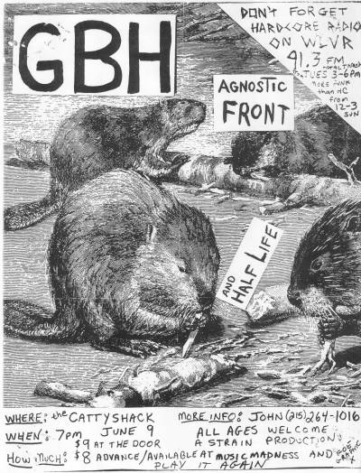 Charged GBH-Agnostic Front-Half Life @ Catasauqua PA 6-9-86
