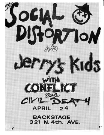 Social Distortion-Jerry's Kids-Conflict-Civil Death @ Tucson AZ 4-24-UNKNOWN YEAR