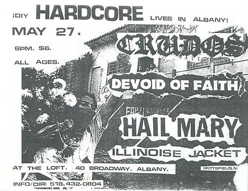 Los Crudos-Devoid Of Faith-Hail Mary-Illinoise Jacket @ Albany NY 5-27-UNKNOWN YEAR