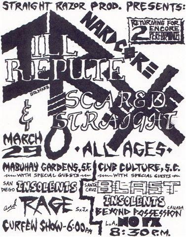 Ill Repute-Scared Straight-Insolents-Bl'ast!-Beyond Possession-NOFX @ San Francisco CA 3-29-UNKNOWN YEAR