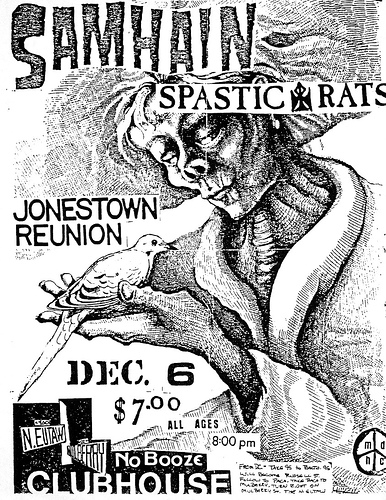 Samhain-Spastic Rats-Jonestown Reunion @ Detroit MI 12-6-UNKNOWN YEAR
