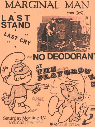 Marginal Man-Last Stand-Last Cry-No Deodorant @ West Catasauqua PA 4-12-UNKNOWN YEAR