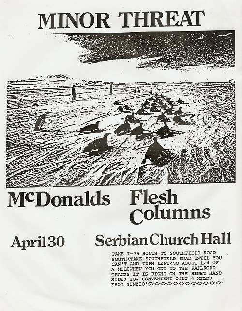 Minor Threat-McDonalds-Flesh Columns @ Detroit MI 4-30-UNKNOWN YEAR