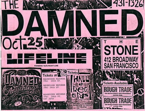 The Damned-Lifeline @ San Francisco CA 10-25-UNKNOWN YEAR