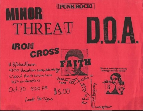 Minor Threat-DOA-Iron Cross-Faith @ Washington DC 10-30-UNKNOWN YEAR